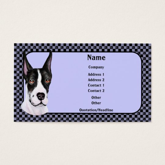 Mantle Pup Great Dane Business Card