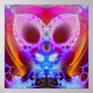 Mantoid Breath Var 4 (12 by 12) Art Print Poster