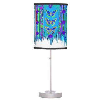 Mantón franjado azul de la mariposa por Sharles Lámpara De Mesilla De Noche