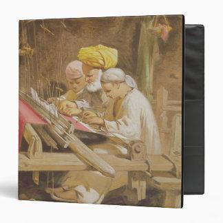 """Mantones de la cachemira: El tejer, 1863 Carpeta 1 1/2"""""""