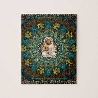 Mantra a Shakyamuni Buda Puzzle