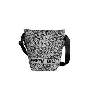 Mantra blanco del dinero de Shreem Brzee del canto Bolsa De Mensajería