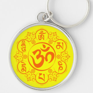 Mantra budista del ronquido de OM Mani Padme Llavero Personalizado