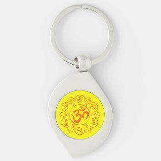 Mantra budista del ronquido de OM Mani Padme Llaveros