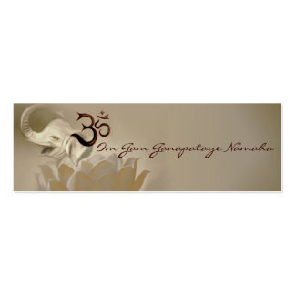 Mantra cards- Ganesh- Ganapataye Double-Sided Mini Business Cards (Pack Of 20)