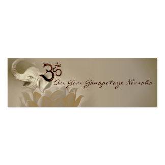 Mantra cards- Ganesh- Ganapataye Mini Business Card