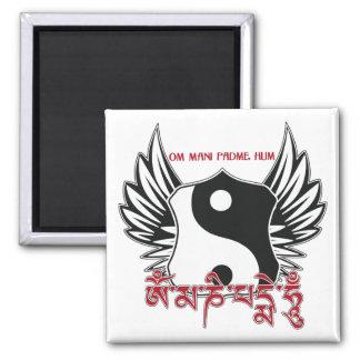 Mantra con alas de Yin Yang Iman De Frigorífico