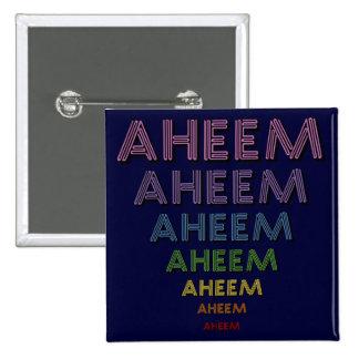 Mantra de Aheem Pin Cuadrado