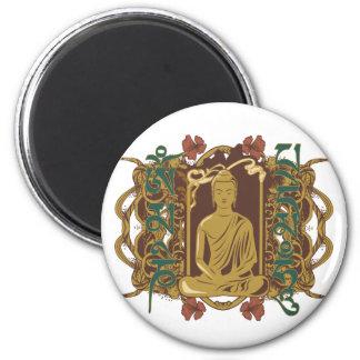 Mantra de Buda del vintage Imán De Frigorífico
