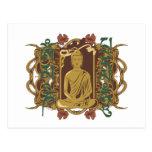 Mantra de Buda del vintage Postales