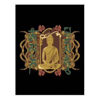 Mantra de Buda del vintage Tarjetas Postales