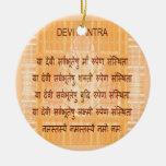 Mantra de DEVI - Hinduism antiguo del Hindi de San Adorno De Navidad