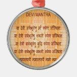 Mantra de DEVI - Hinduism antiguo del Hindi de San Ornamento De Navidad