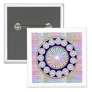Mantra de la belleza - colección de ART101 Chakra Pin Cuadrado