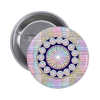 Mantra de la belleza - colección de ART101 Chakra Pin Redondo De 2 Pulgadas