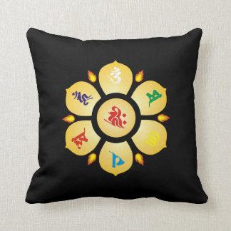 Mantra de la mandala de sánscrito budista de la cojín