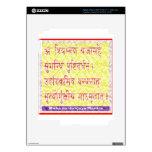 Mantra de MAHAMRITUNJAYA - amarillo de oro iPad 3 Skins