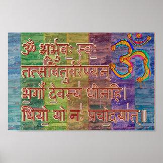 Mantra de OM Gayatri Poster