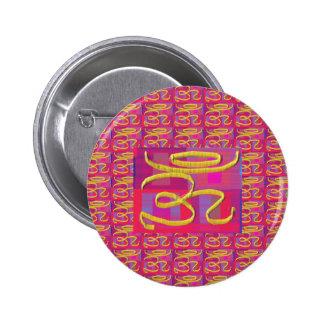 MANTRA de OM - OMmantra Pin Redondo De 2 Pulgadas