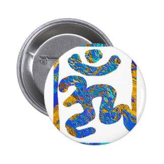 Mantra de OM para la paz Pin Redondo De 2 Pulgadas