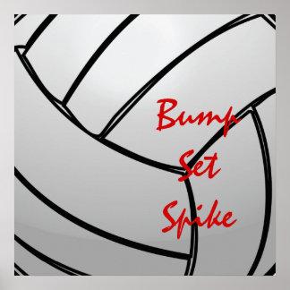 Mantra determinado del voleibol del punto del póster