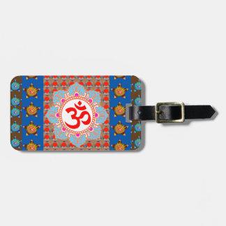 Mantra elegante de OmMANTRA: Meditación de la yoga Etiquetas Para Maletas