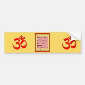 Mantra hindú OM Pegatina Para Auto