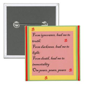Mantra hindú OM Pin Cuadrado
