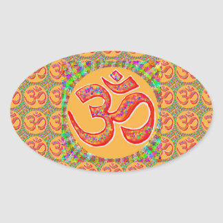 Mantra OmMantra : Perfect True Holy RobeColor Oval Sticker