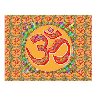 Mantra OmMantra: RobeColor santo verdadero Tarjetas Postales