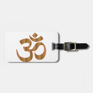 MANTRA OmMantra Yoga Meditation Chant Hinduism gif Travel Bag Tags