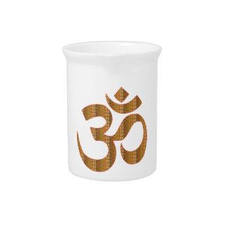 MANTRA OmMantra Yoga Meditation Chant Hinduism gif Drink Pitcher