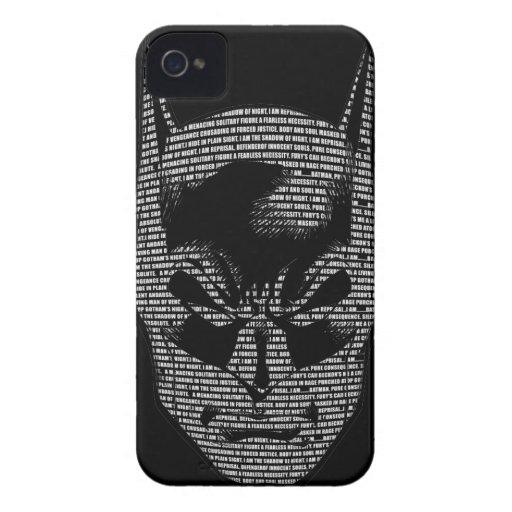Mantra principal de Batman iPhone 4 Case-Mate Cárcasas