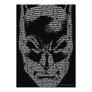 """Mantra principal de Batman Invitación 5"""" X 7"""""""