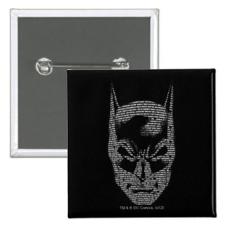 Mantra principal de Batman Pin Cuadrado