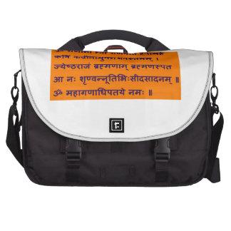Mantra sánscrito de Gajananam Ganapati Ganesha Bolsas De Portátil