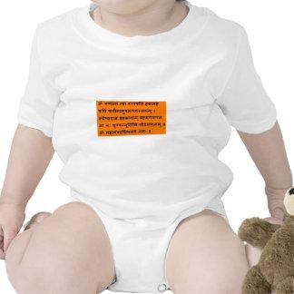Mantra sánscrito de Gajananam Ganapati Ganesha Trajes De Bebé