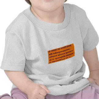 Mantra sánscrito de Gajananam Ganapati Ganesha Camisetas
