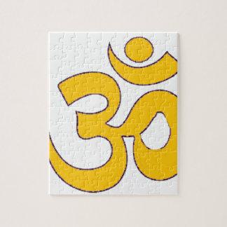 mantra sánscrito del aum de OM del oro, símbolo, Puzzle
