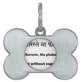 mantra sánscrito: Gita, yoga del mantra de las Placas Mascota