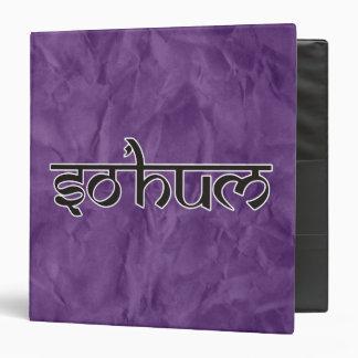 Mantra SO HUM - flat black & white contour Binder