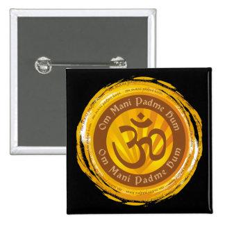 Mantra tibetano con el símbolo de Aum Pins