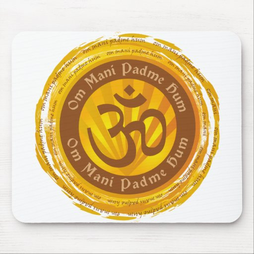 Mantra tibetano con el símbolo de Aum Tapete De Raton