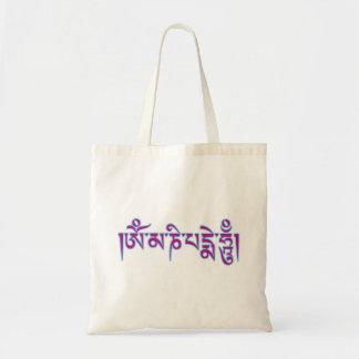 Mantra tibetano del budista de la escritura del bolsa de mano