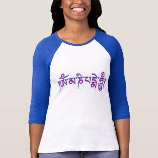 Mantra tibetano del budista de la escritura del playera