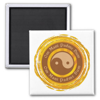 Mantra tibetano Yin Yang Imanes De Nevera