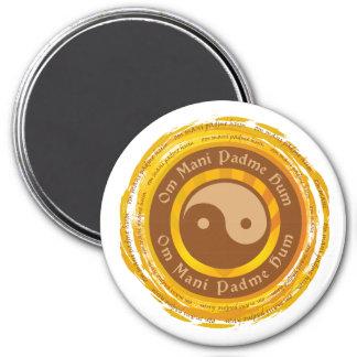 Mantra tibetano Yin Yang Imán De Frigorífico