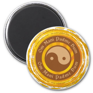 Mantra tibetano Yin Yang Imanes