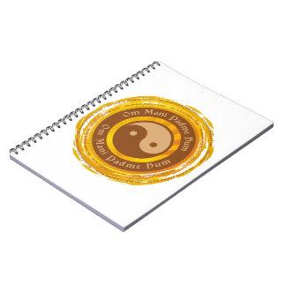 Mantra tibetano Yin Yang Cuadernos