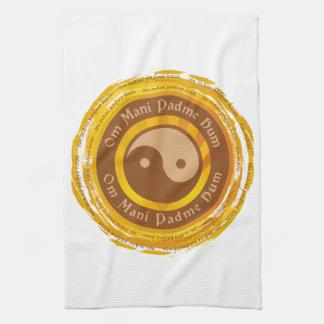 Mantra tibetano Yin Yang Toallas De Cocina